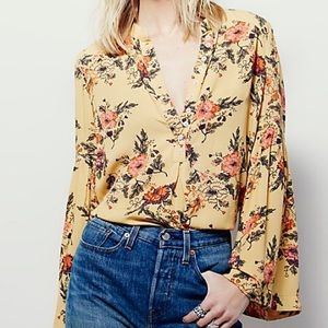 Free People Easy Girl Bell Sleeve Top
